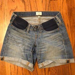 J. Crew maternity jean shorts